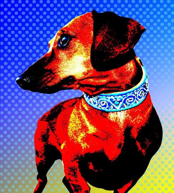"Custom Pet Portrait Pop Art - 13 x 19"""