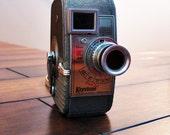 Camera - Vintage Keystone Video Camera 8 mm 1940s video camera - movie camera - Collectible - Antiique - Retro Style