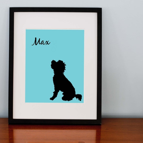 Your Dog's Silhouette Print -  8x10