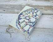 FREE SHIPPING  journal, diary, notebook, batik, colorful AND white