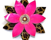 Pink and Leopard Duct Tape Flower