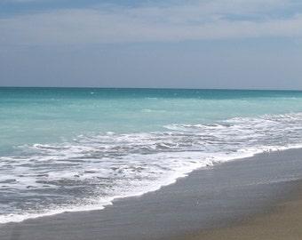 Set of 5 Blank Photo Note Cards  Beach at Hutchinson Island, Florida
