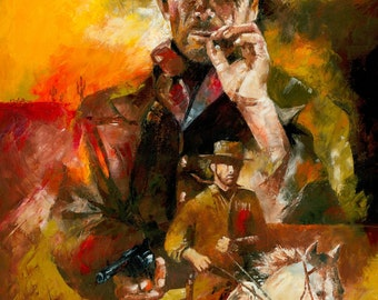 Cowboy actor Clint Eastwood art prints posters