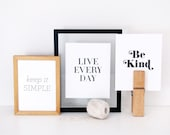 Set of 3 Letterpress Prints of your choice