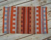 Handwoven Rug - Cotton warp/ Wool Weft