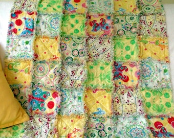 Rag Quilt for Babies or Kids - Carousel