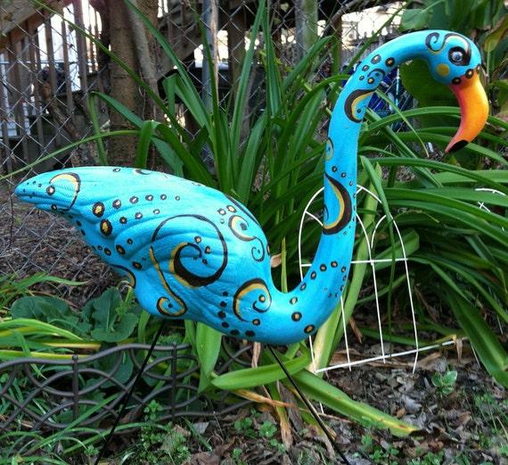 Flamingos - Fun & Frivolous - Hand Painted Custom Design