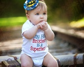 My Big Brother is a Superhero Sibling Boutique Embroidery Shirt or Onesie
