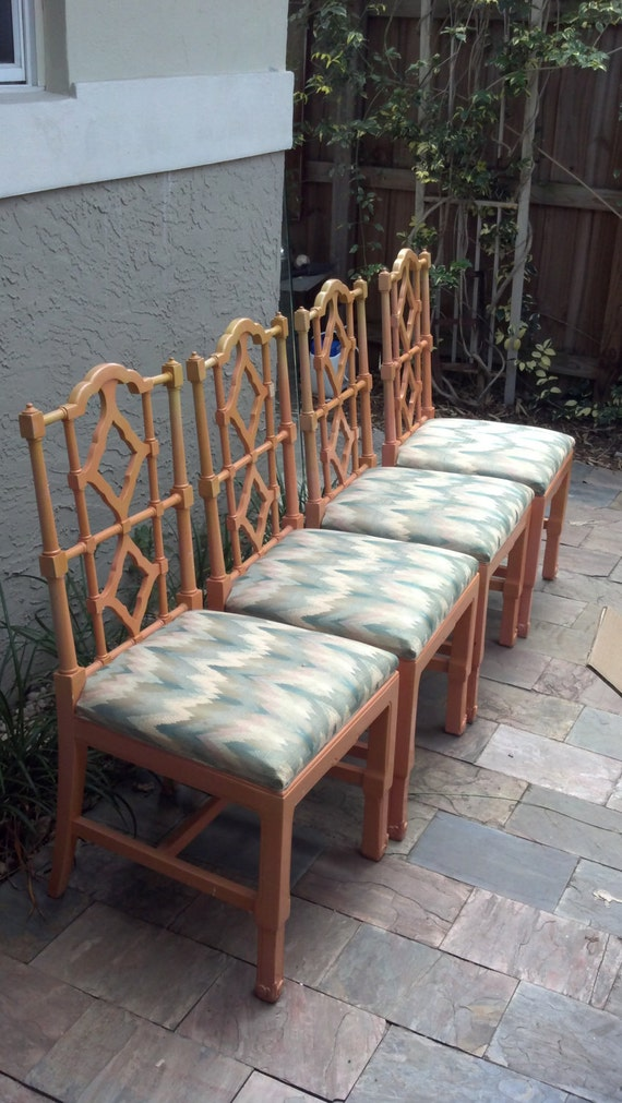 Chippendale Style chairs with cane seats. On hold.