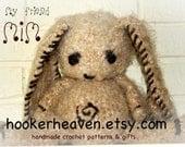 Mim . Bunny Crochet PDF Pattern . Mimzy inspired ..Stuffed Animal rag doll original by Hooker Heaven .. Great girl boy gift for Easter