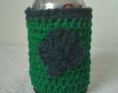 St. Patricks Day Crochet Soda/Beer Can Cozy