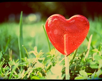6 Raspberry Heart Lollipops // Red Wedding Favors // Bright Raspberry // Fall Wedding Favors // Spring Wedding