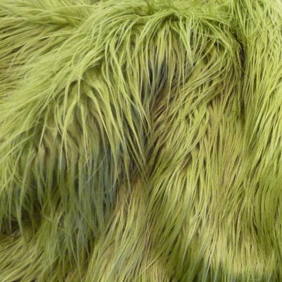 STOREWIDE SALE Cuddly Cozzy Olive green faux fur, long shag faux fur photography prop newborns/infants 18x30