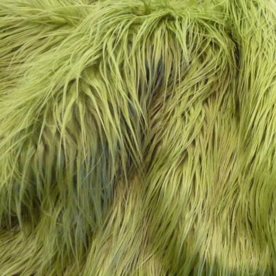 SALE 18x30 Olive green SOFT faux fur, long shag faux fur photography prop newborns/infants
