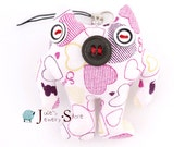 Cute Sewed Little Cloth Monster Key / Cellphone Charm Pendant,Home decoration Ornament