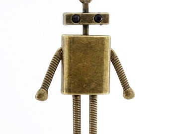 VINTAGE Super Cute Robot Pendant Necklace