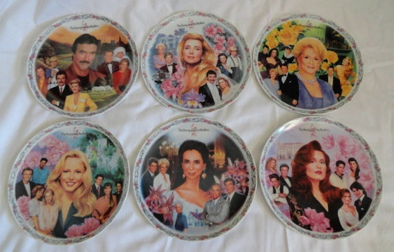 USA made Vintage Young and the Restless Characters Collector's Plates
