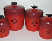 Treasury Item--1960s West Bend Aluminum Canister Set