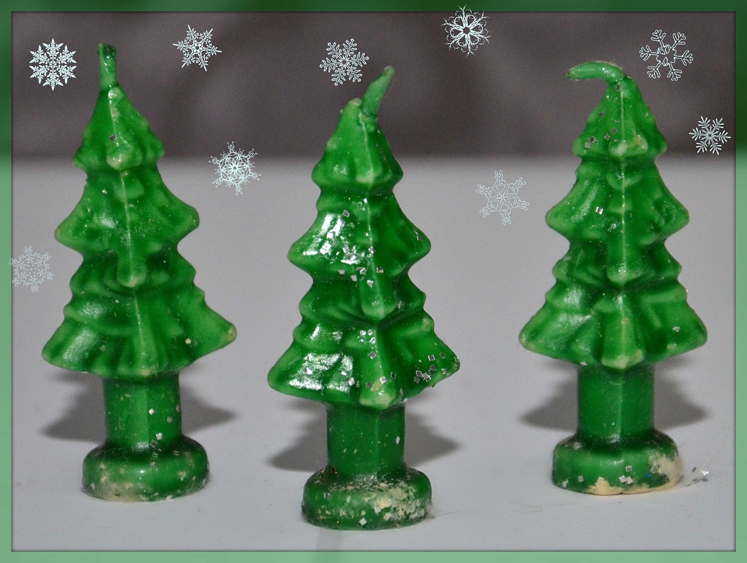Trio Of Rare Gurley Christmas Tree Candles By GrammysGoodys
