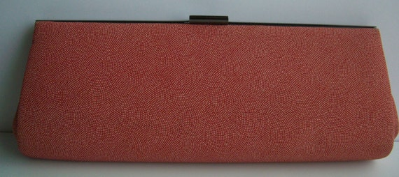 RESERVED FOR GIOVANNA Red and white silk clutch purse, 1970s vintage Japanese kimono bag