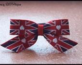 London  Union Jack British Party, the royal baby-British flag hair clip