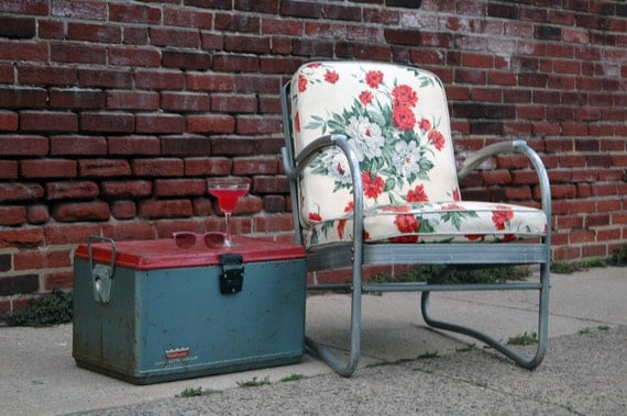 Vintage Aluminum Lawn Chair Outdoor