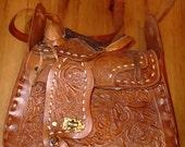 Horse Saddle Purse - Circa 70's
