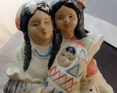 Vintage Indian Family Ceramic Figurine