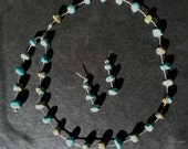 Sale Jewelry -Turquoise and Silver Necklace Reserved for Judi