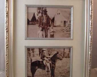 Vintage Cowboy Photos in Frame
