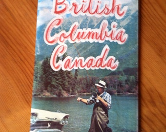 Vintage British Columbia Maps - 1961-62 - Two Road Maps - Great for Vintage Trailer or Auto