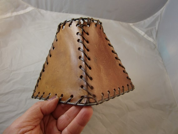 Cowboy High Style Leather Lamp Shade