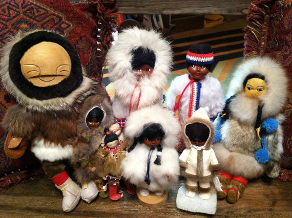 Vintage Eskimo Doll Collection - Lot of 8 Dolls - Reserved for Eric
