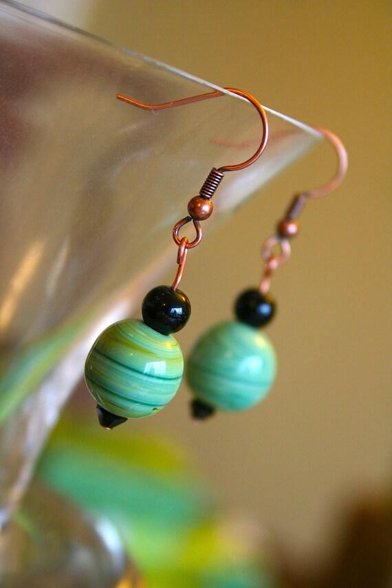 Marbled Beads Dangle Earrings