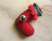 Felt Christmas Boot Ornament