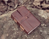 "Handmade Leather Journal and Sketchbook - ""Medieval"" -"