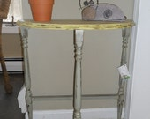Hand painted Demilune Table