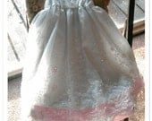 OOAK  Pink and White Little Girl's Dress