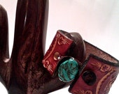 Hand Stamped 'Roots Run Deep' Leather Cuff (Customizable)