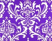 Ozborne Candy Purple and White Fabric 1 yard