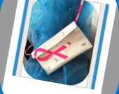 Breast Cancer Ribbon Duct Tape Purse