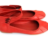 RESERVED for Csilla. 40% OFF. Sale. MUSE leather ballet flats / womens shoes. us 5, 35,5 eur.