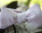 Light Pink Seersucker, Button Adjustable