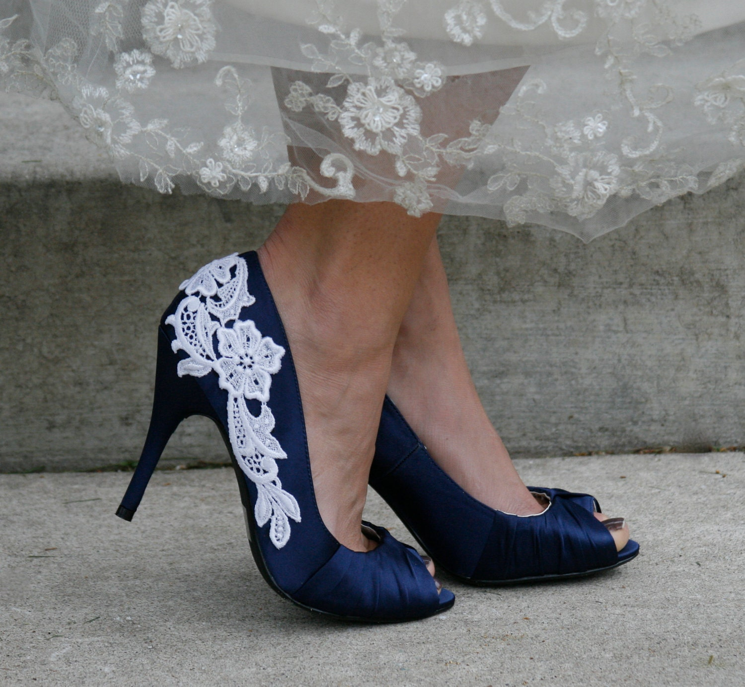 Navy Blue Bridal Shoes Photo Album - Weddings Pro