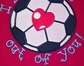 Infant, Toddler and Boys Valentine's Day Soccer T-Shirt