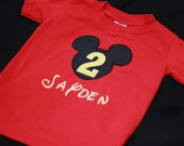 Infant, Toddler and Boys Birthday Mickey Number T-Shirt
