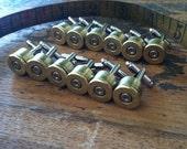 groomsmen gift set of 6 Bullet cufflinks set (6) pair groomsman set gift Colt 45 silver tone backings cuff links grooms men