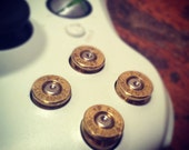 Xbox 360 bullet buttons 9mm rounds with xbox screwdriver handmade handcrafted handgun geekery bullets  call of duty