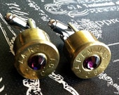 Colt 45 cuff links June Birthstone
