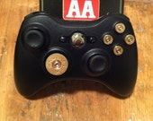 Xbox 9mm Shotgun Shell bullet button Controller Video Game gun brass shells handmade handcrafted video games call of duty gears of war